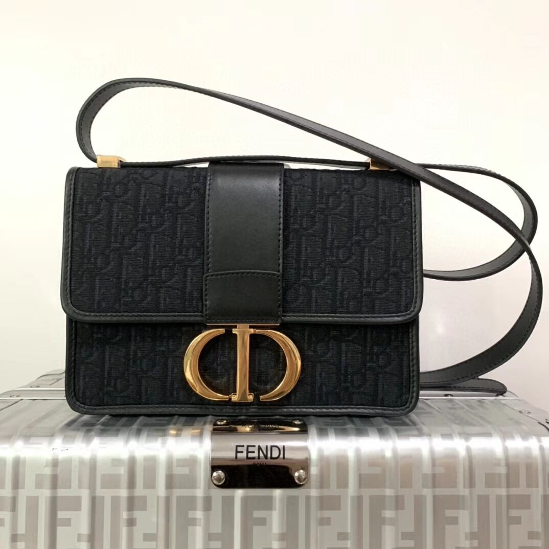 Dior 30 MONTAIGNE CANVAS BAG C9203 black