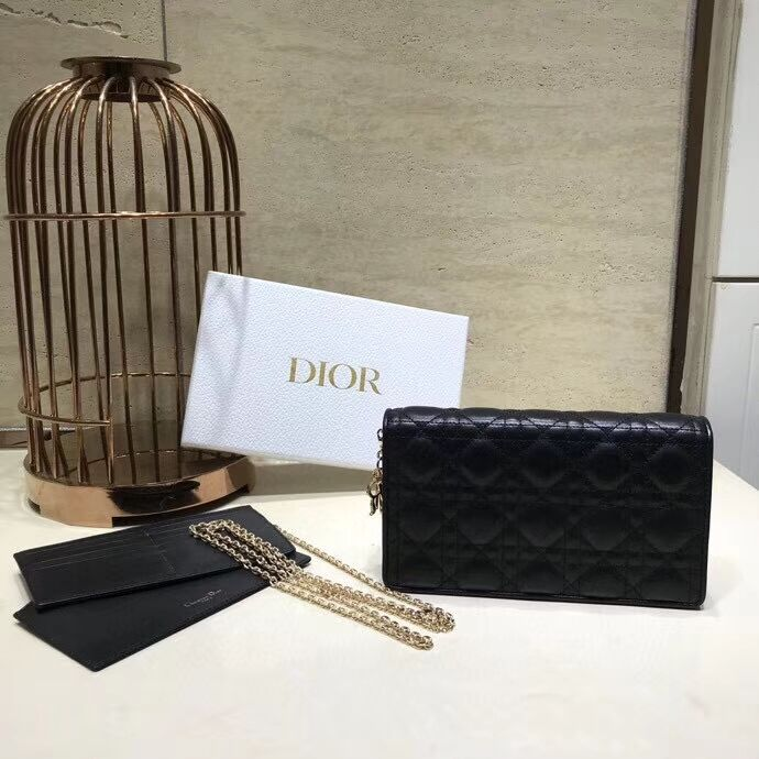 LADY DIOR CALFSKIN WALLET C9025A black