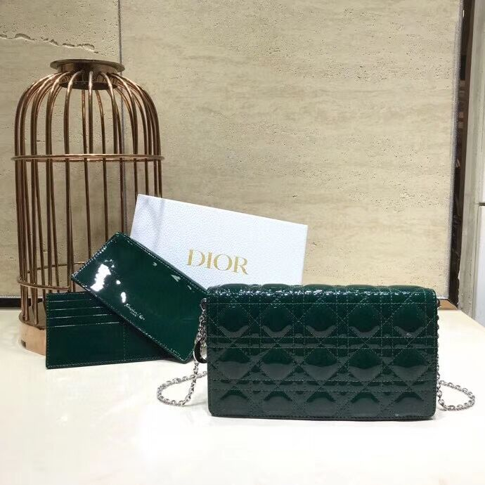LADY DIOR CALFSKIN WALLET C9025A green