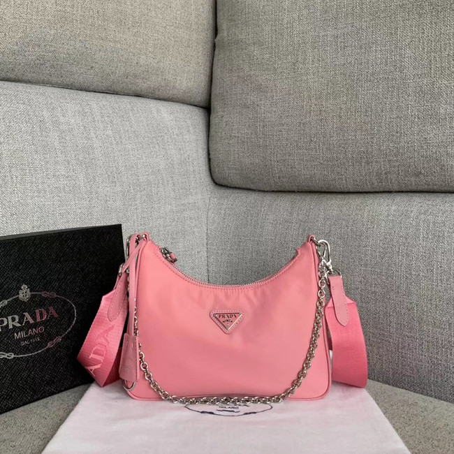Prada Nylon Shoulder Bag 91277 pink
