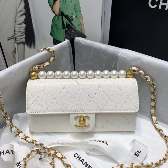 Chanel flap bag 88812 white