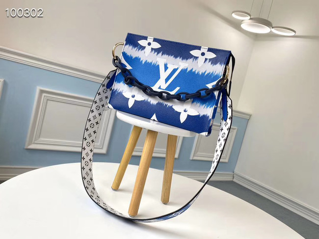 Louis Vuitton Monogram Canvas Original Leather M68137 blue