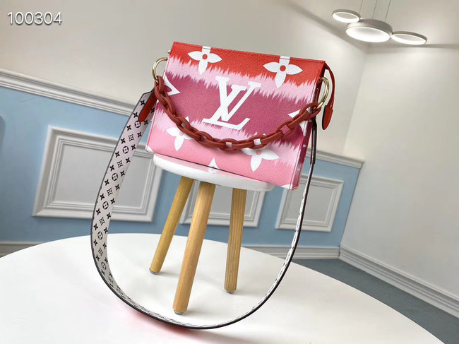 Louis Vuitton Monogram Canvas Original Leather M68137 red
