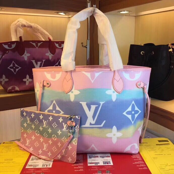 Louis Vuitton Monogram Canvas Original NEVERFULL M45128 pink