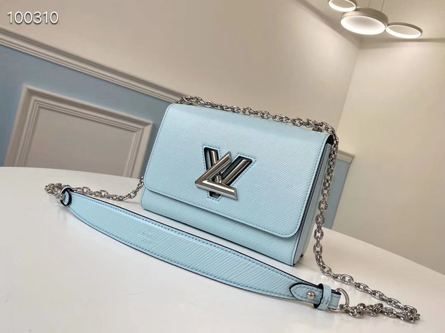 Louis vuitton original epi leather TWIST MM M66119 sky blue