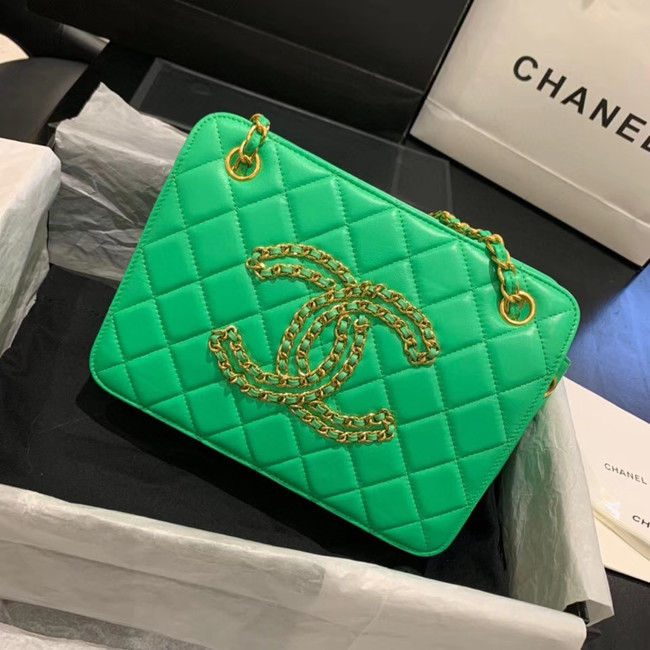 CHANEL 2020 New Style Original Leather AS1516 green
