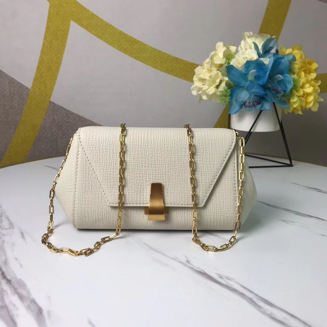 Bottega Veneta Original Leather Mini Chain Bag BV6700 white