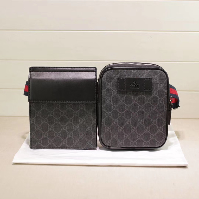 Gucci GG Supreme belt bag 450956 black