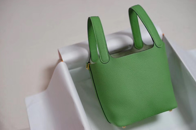 Hermes Picotin Lock PM Bags Togo Leather H5599 green