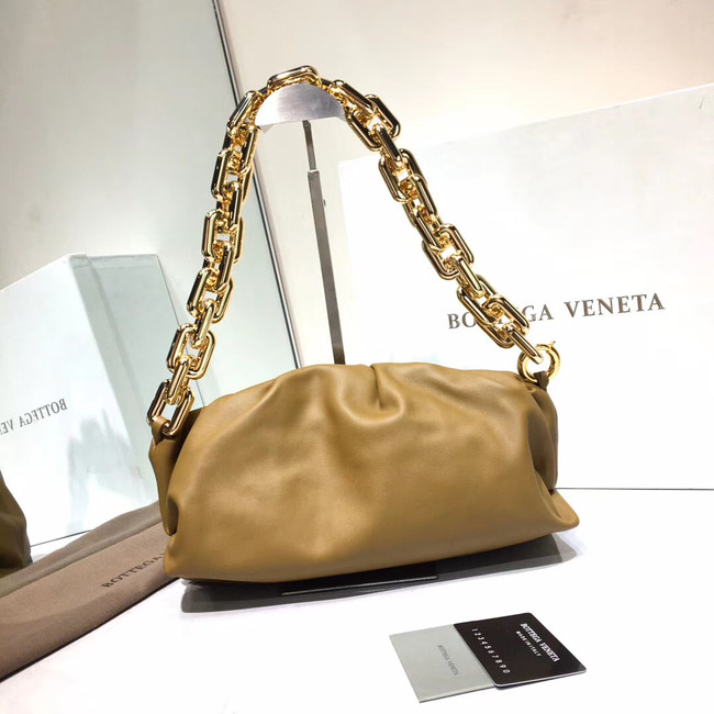 Bottega Veneta Nappa lambskin soft Shoulder Bag 620230 Khaki