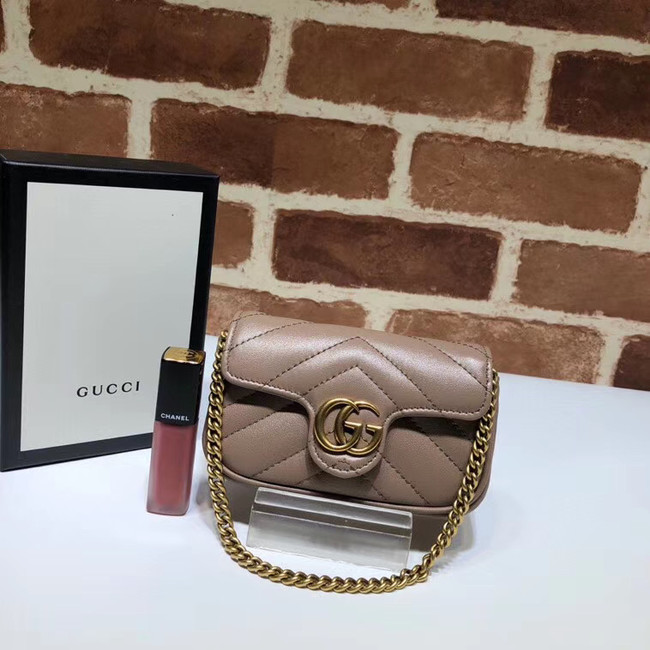 Gucci GG Marmont super Clutch bag 575161 Nude