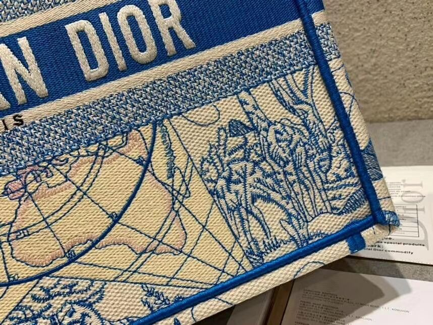 DIOR BOOK TOTE EMBROIDERED CANVAS BAG C1286-9