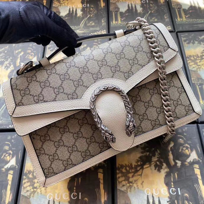 Gucci Dionysus GG top handle bag 621512 white