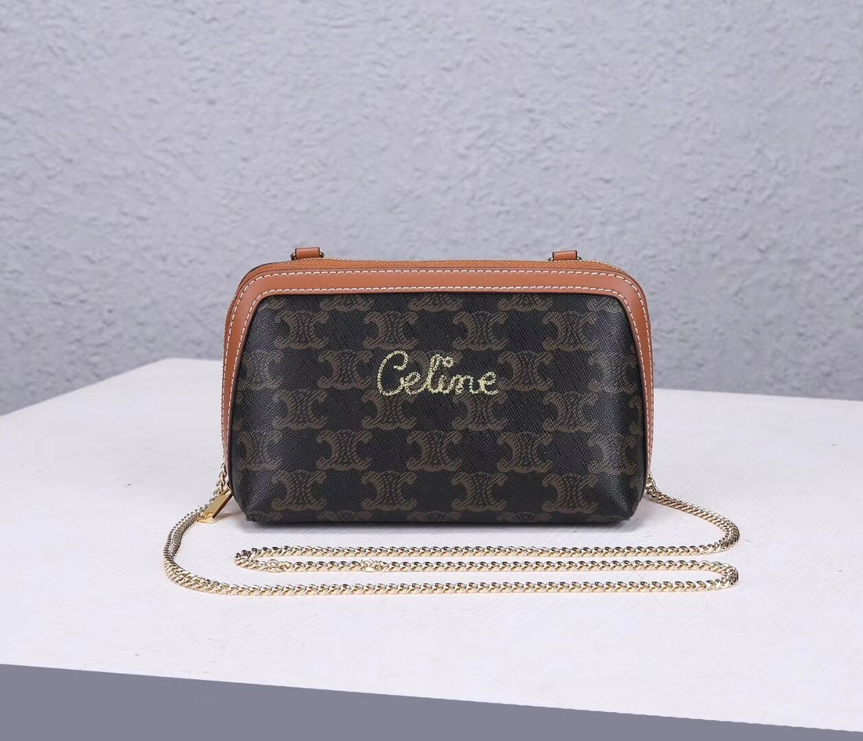 Celine COATED CANVAS CL00382 brown