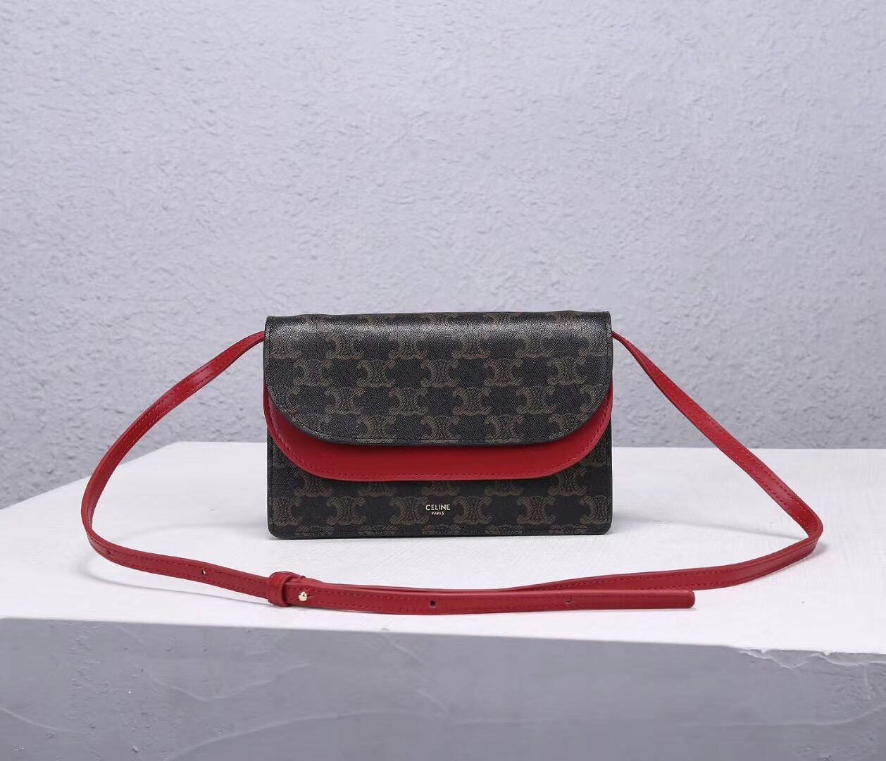 Celine COATED CANVAS CL00852 red