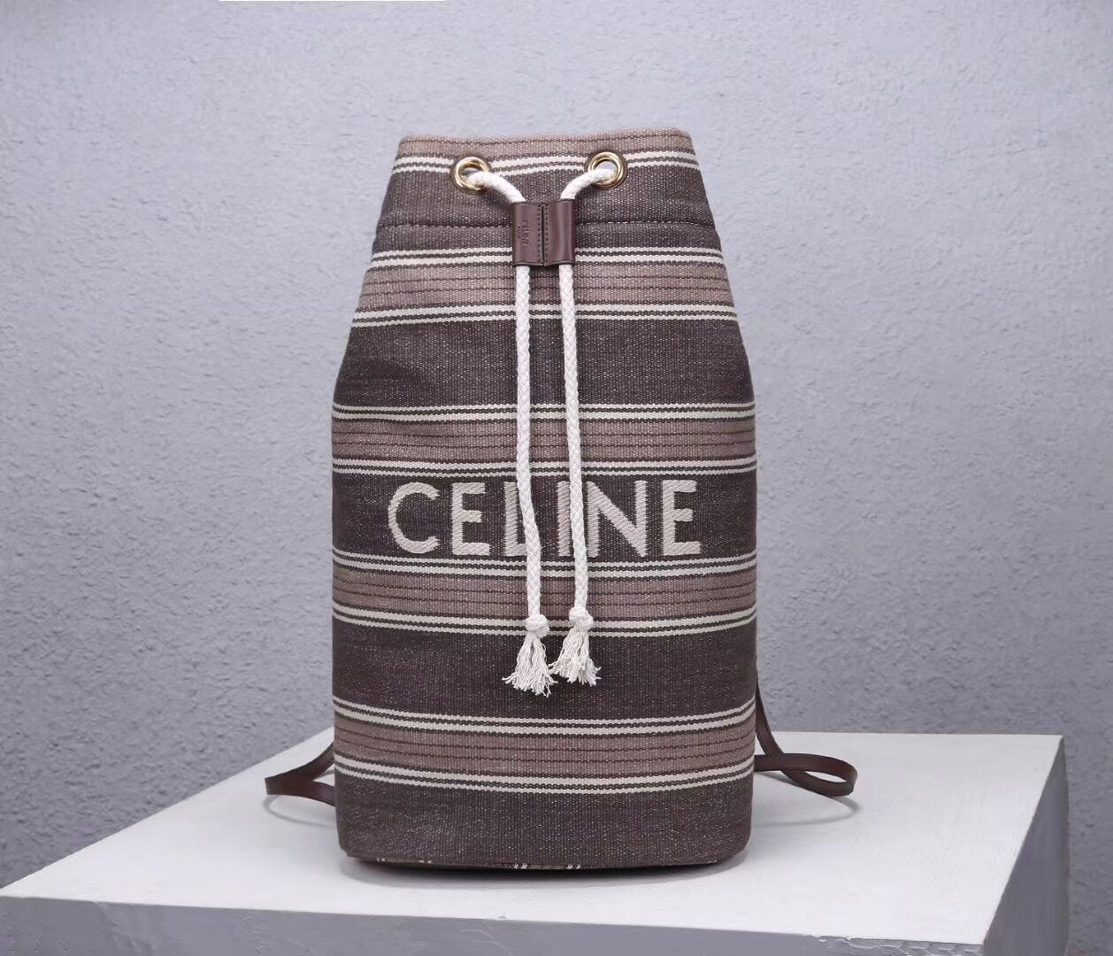 CELINE Canvas Shoulder Bag CL92173 Gray