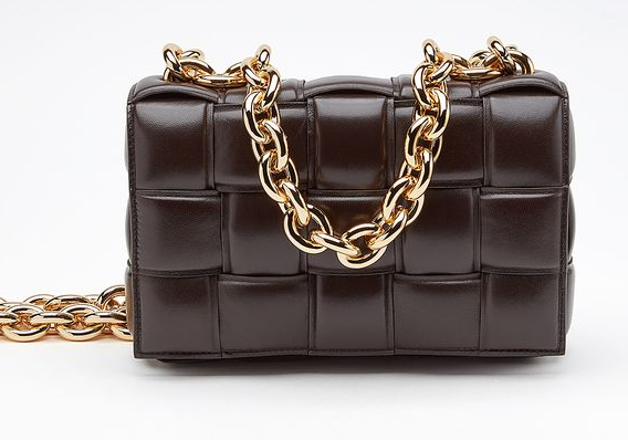 Bottega Veneta THE CHAIN CASSETTE Expedited Delivery 631421 Chocolates