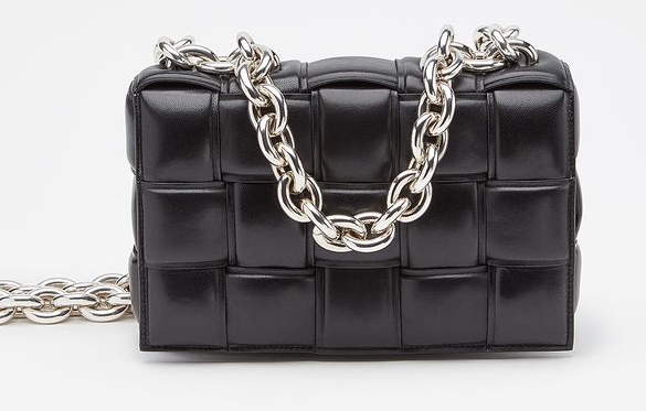 Bottega Veneta THE CHAIN CASSETTE Expedited Delivery 631421 black & Hardware: Silver finish