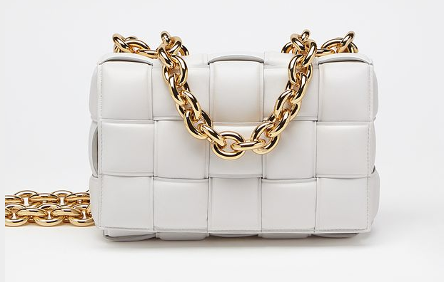 Bottega Veneta THE CHAIN CASSETTE Expedited Delivery 631421 white