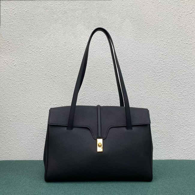 Celine LARGE SOFT 16 BAG IN SUPPLE GRAINED CALFSKIN 194043 BLACK