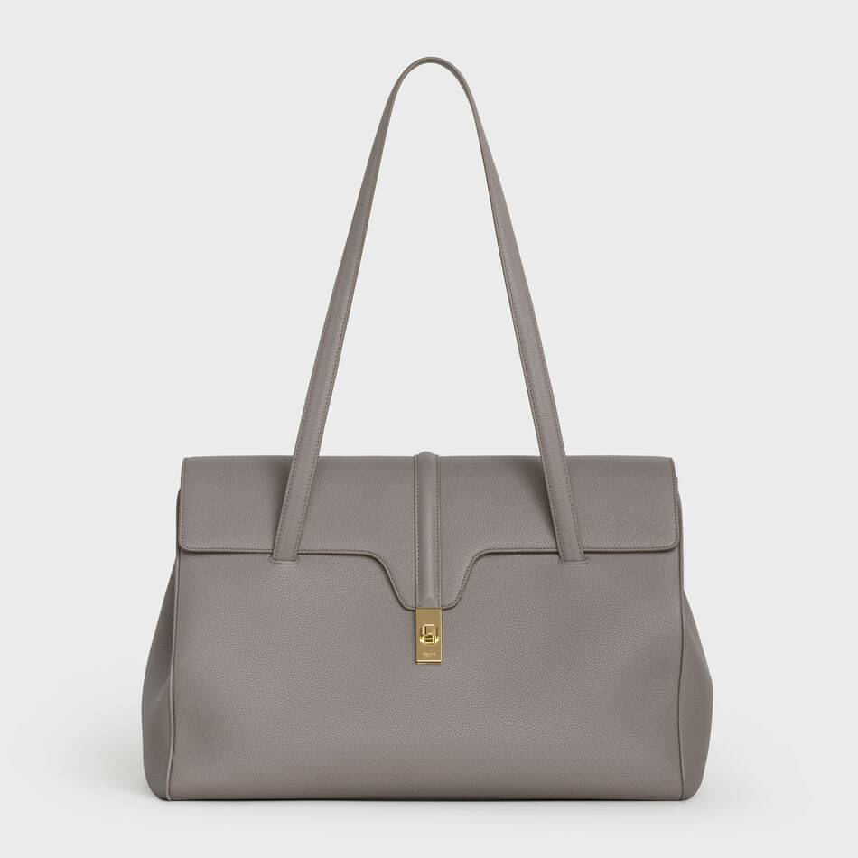 Celine LARGE SOFT 16 BAG IN SUPPLE GRAINED CALFSKIN 194043 GREY