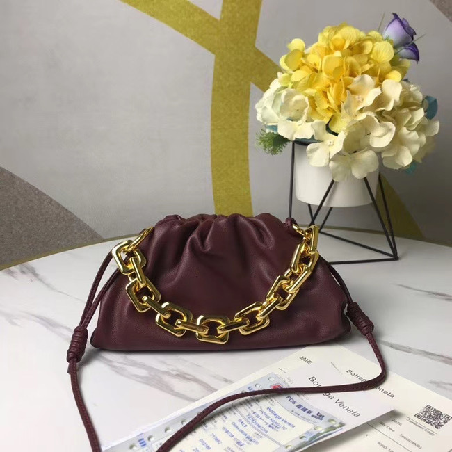 Bottega Veneta THE MINI CHAIN POUCH 620229 Burgundy