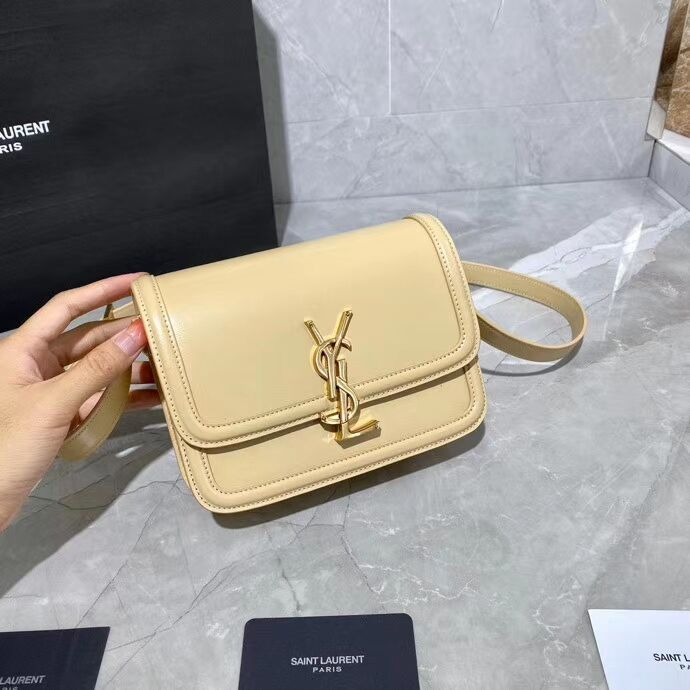 SOLFERINO SMALL SATCHEL IN BOX SAINT LAURENT LEATHER 63430 Beige