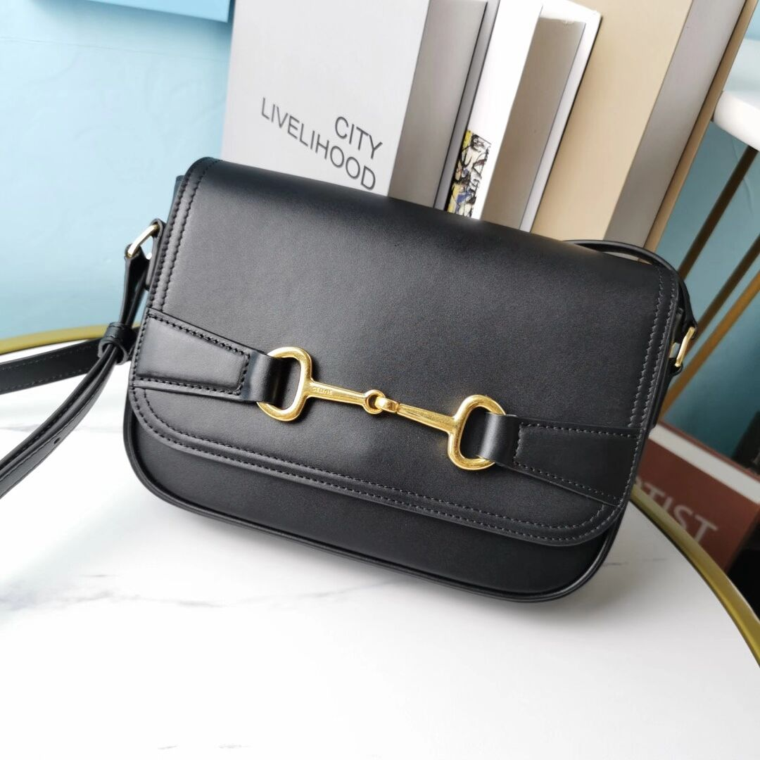 Celine SMALL CLASSIC BAG IN BOX CALFSKIN CL91373 black