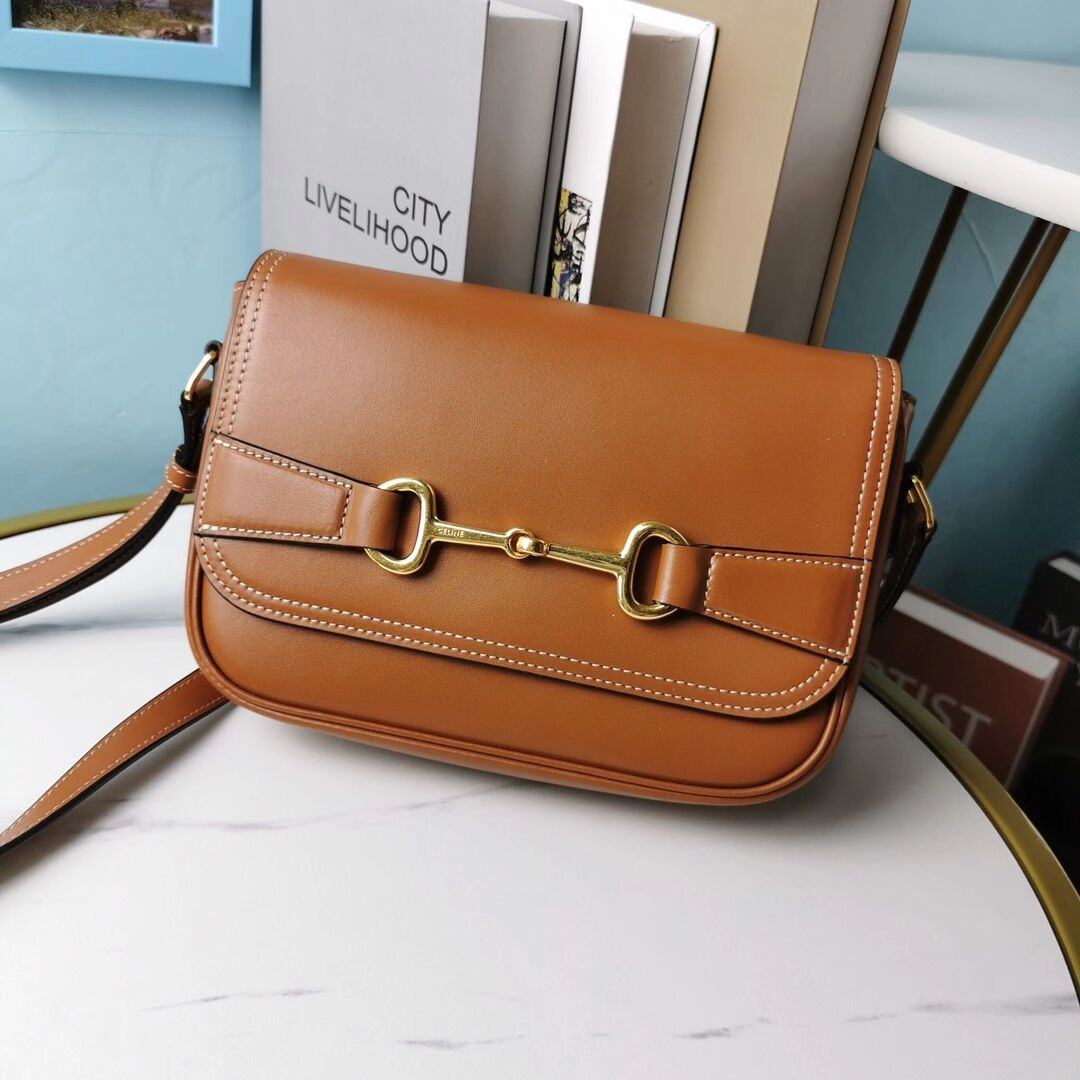 Celine SMALL CLASSIC BAG IN BOX CALFSKIN CL91373 brown