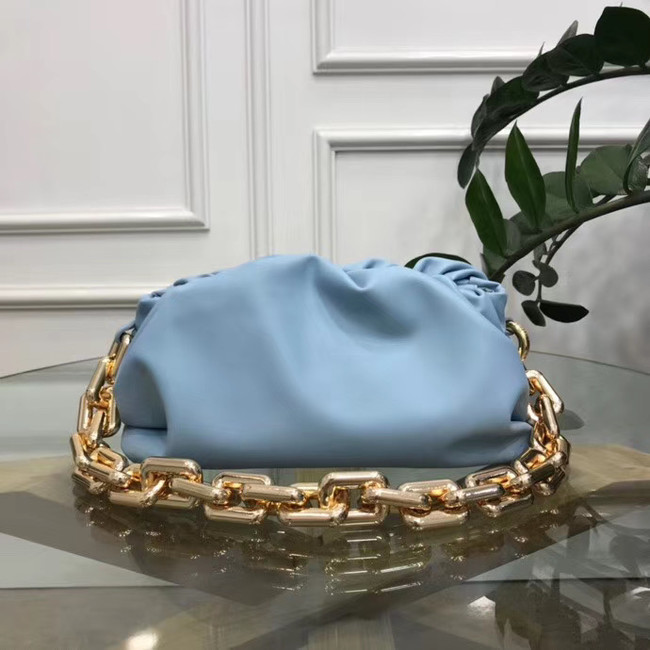Bottega Veneta THE CHAIN POUCH 620230 LIGHT BLUE