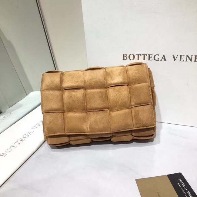 Bottega Veneta PADDED CASSETTE BAG suede 591970 brown