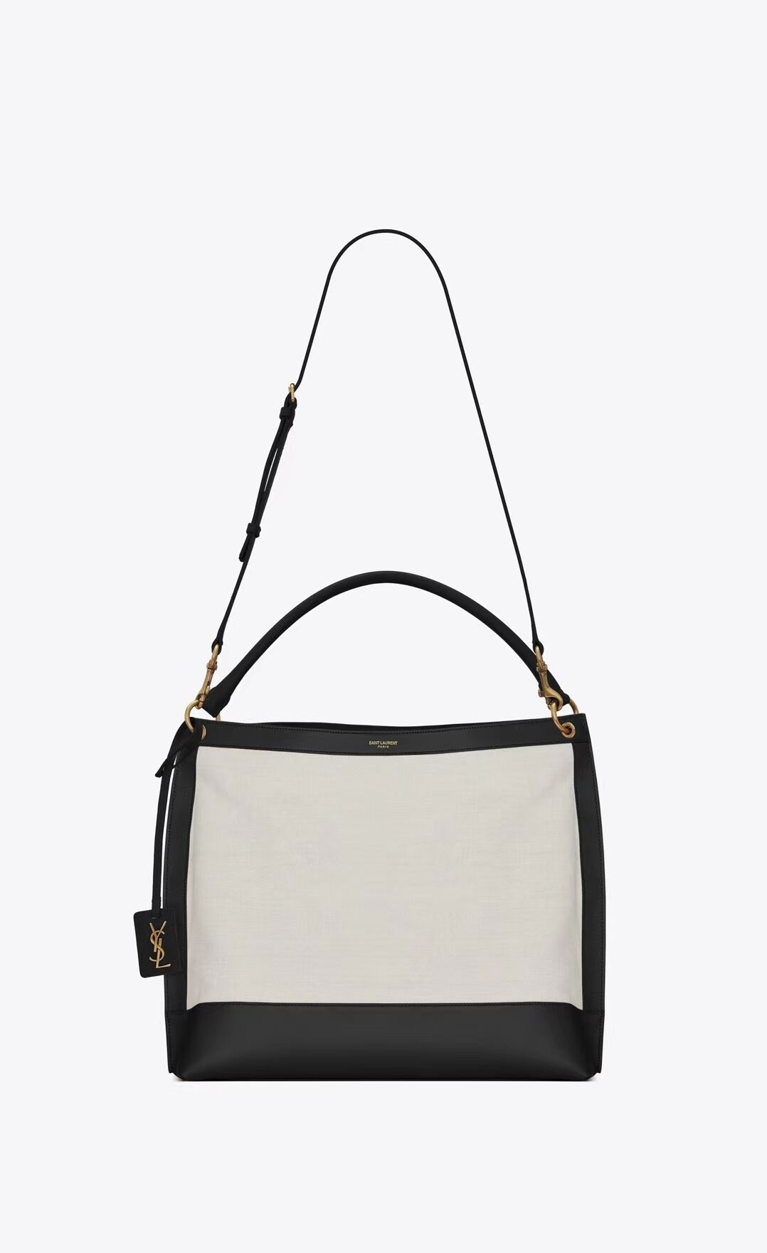 Yves Saint Laurent IN CANVAS AND LEATHER Y635266 black