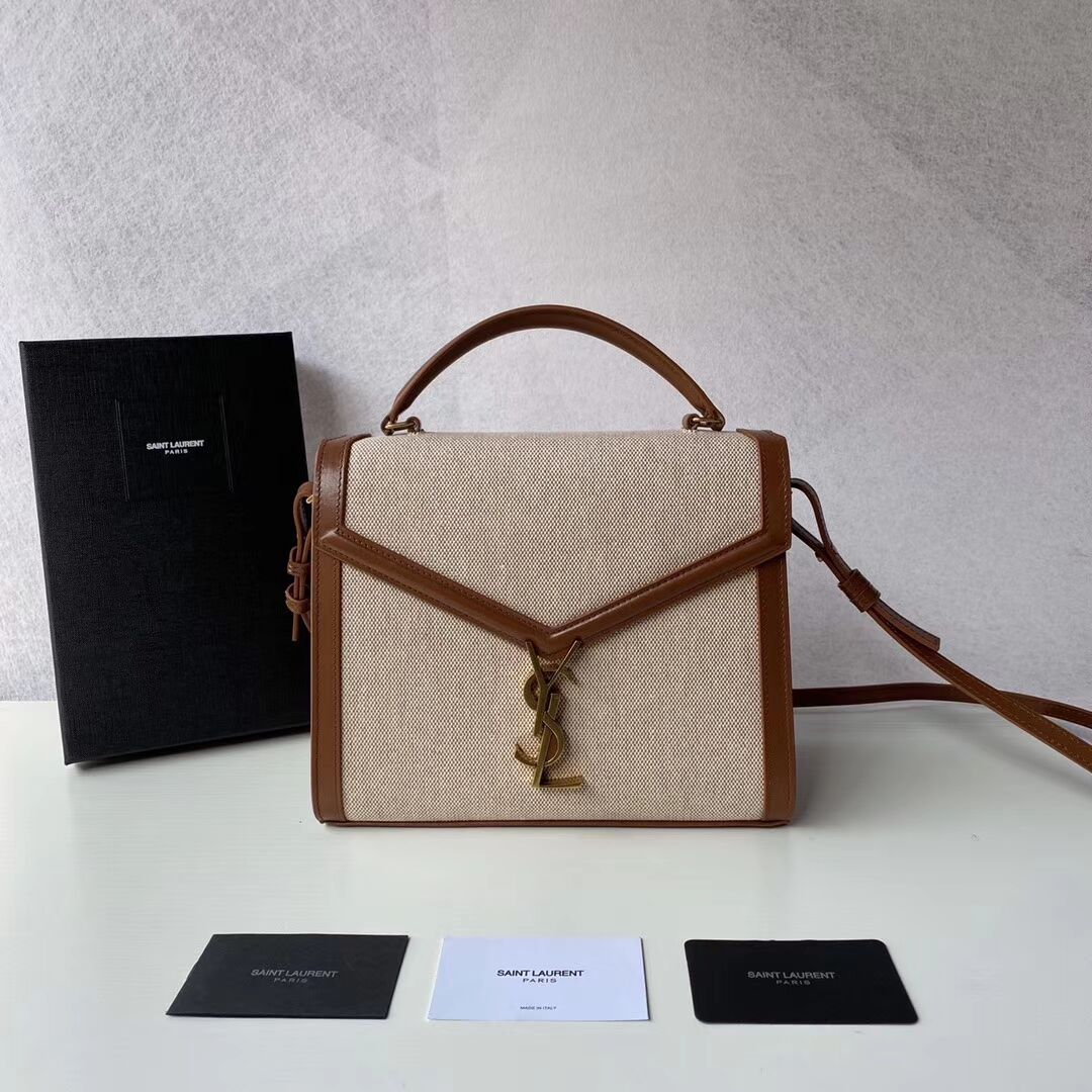 Yves Saint Laurent IN CANVAS AND LEATHER Y650119H Apricot