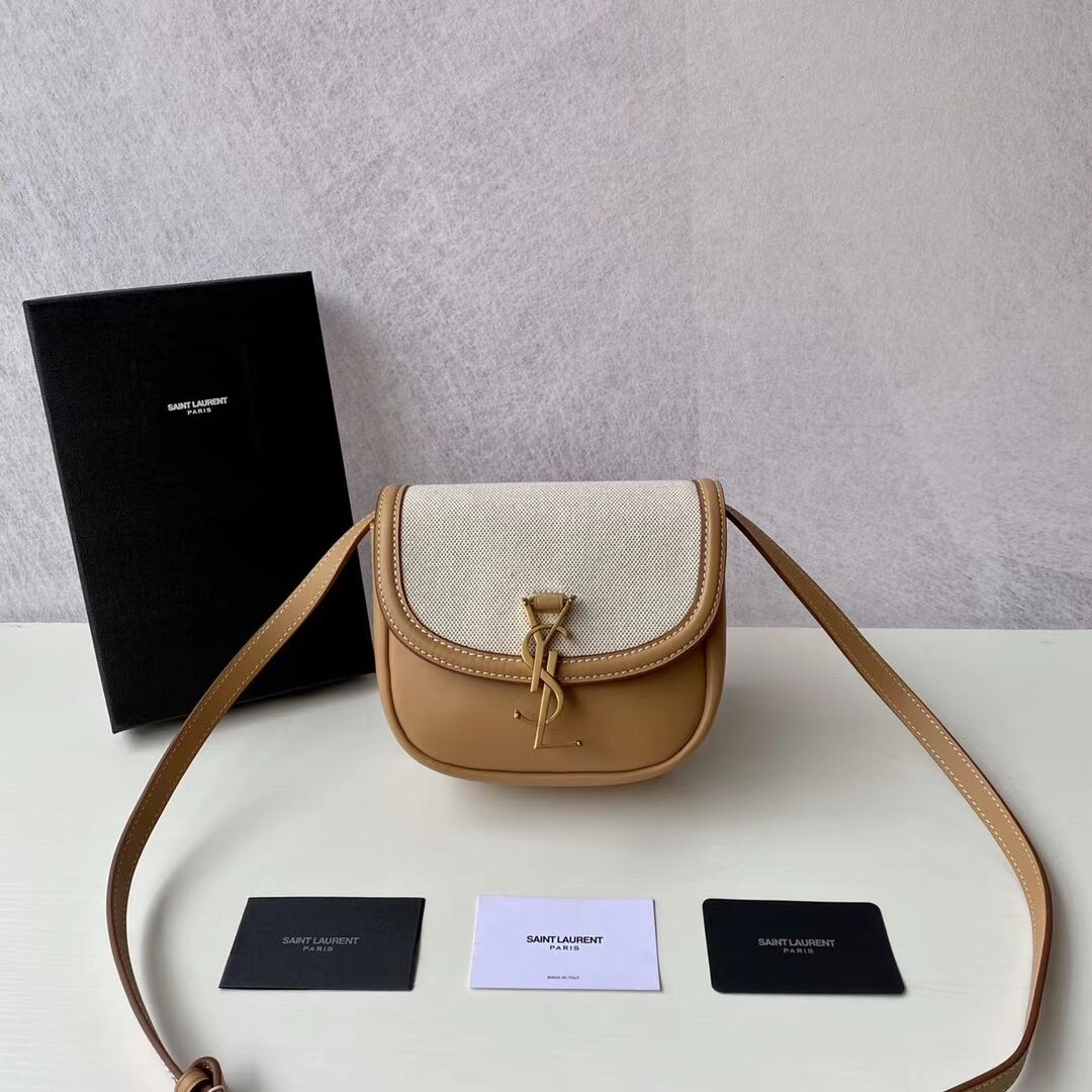 Yves Saint Laurent IN CANVAS AND LEATHER Y650123H Apricot
