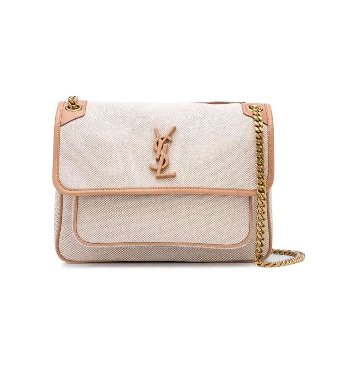 Yves Saint Laurent IN CANVAS AND LEATHER Y698894H Apricot