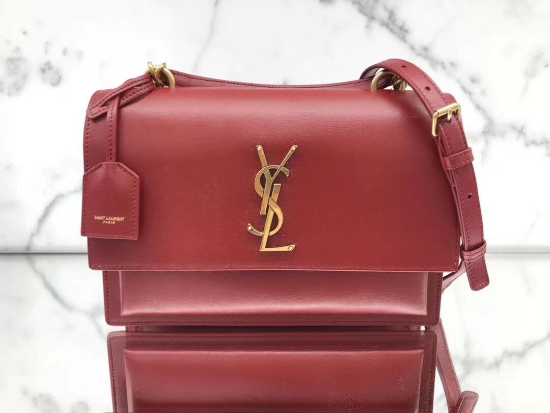Yves Saint Laurent Calfskin Leather Tote Bag Y634723 Bright red