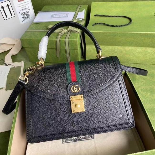 Gucci Ophidia small top handle bag with Web 651055 black
