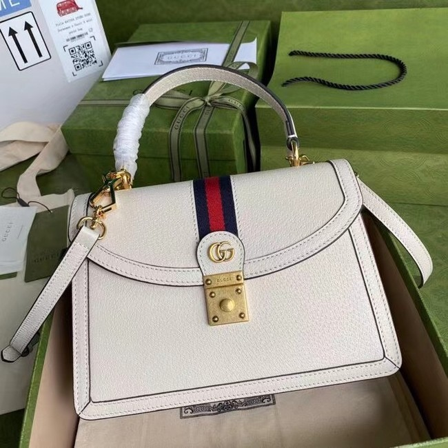 Gucci Ophidia small top handle bag with Web 651055 white