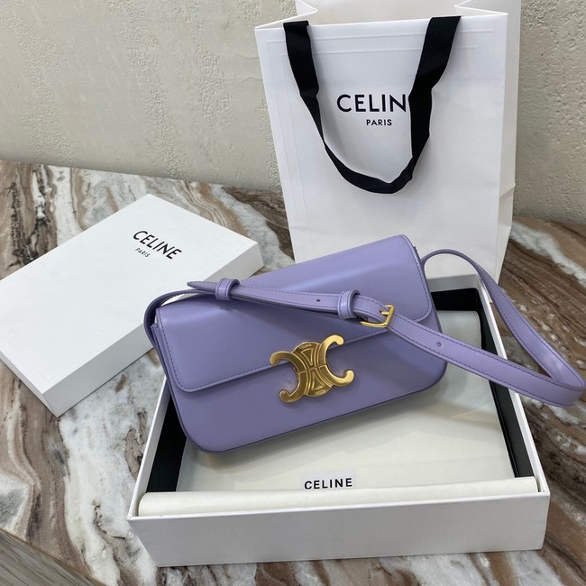 Celine TRIOMPHE SHOULDER BAG IN NATURAL CALFSKIN 194143 purple